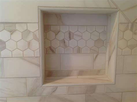 tiled shower niche designing niches