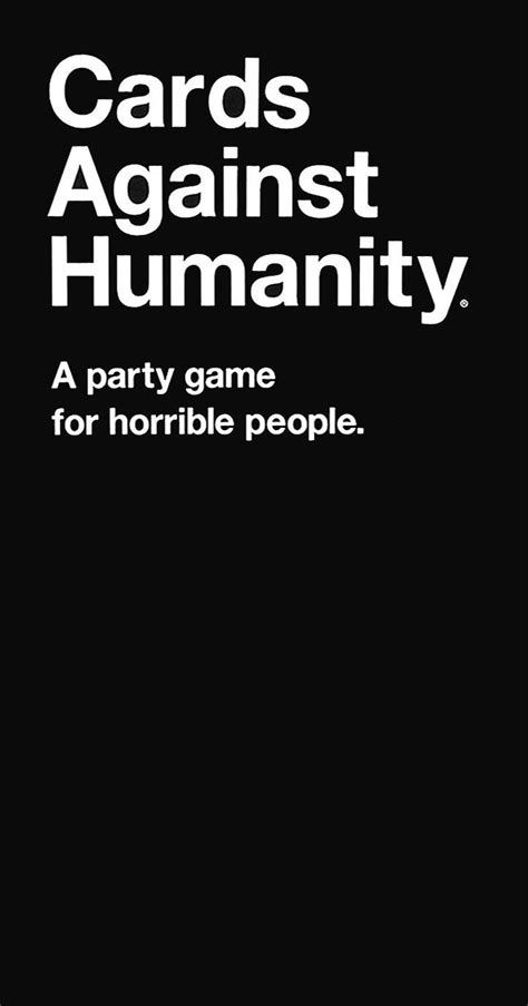 cards  humanity   party game  horrible people  editionnew buy