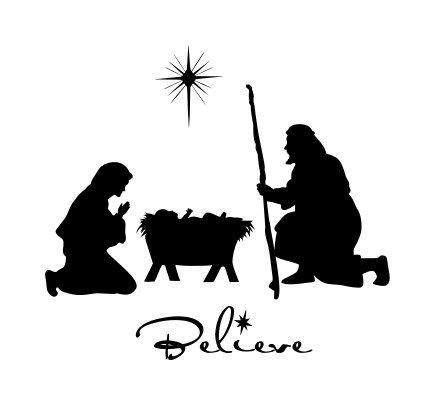 printable vinyl silhouette nativity wallsthatpop etsy christmas wise men