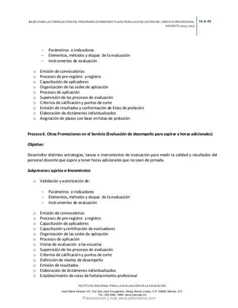 resultado de evaluacion docente 2015 resultados de la evaluacion inee 2015