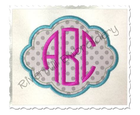 embroidery design with name applique name or monogram frame machine embroidery design 4