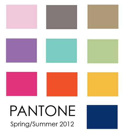 pantone color pallete the pantone palette for spring summer 2012 gotoglamourgirl