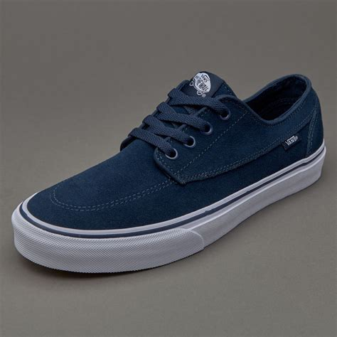 sepatu sneakers vans brigata suede dress blues