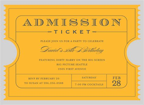 entry tickets template admission ticket template images