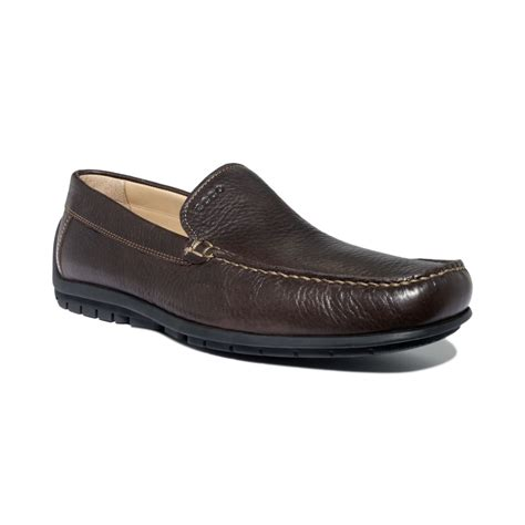 ecco slip on loafer ecco soft slip on loafers in brown for coffee lyst