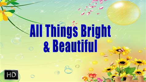 all things bright and beautiful song with lyrics nursery