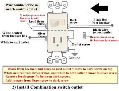 light switch outlet combo wiring diagram switched outlet wiring diagram and schematics