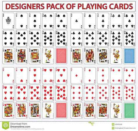 Gift Card Pack - desigers pack of playing cards stock illustration image 49405508