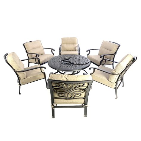round dining table with armchairs kensington firepit grill round 120cm fire ice table