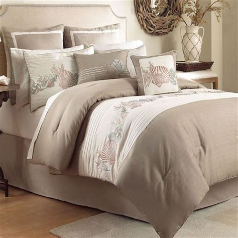 beige comforter set seashore coastal comforter bedding from chapel hill by