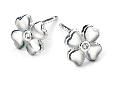 Four Leaf Clover Stud Earring d for four leaf clover stud earrings