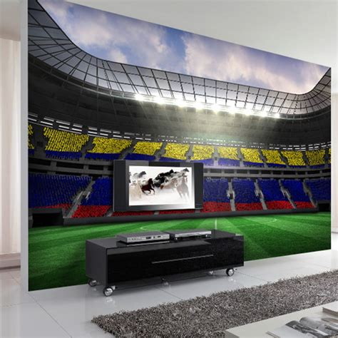 football stadium wallpaper for bedrooms photo wallpaper custom 3d coffee shop restaurant bedroom living room wallpaper