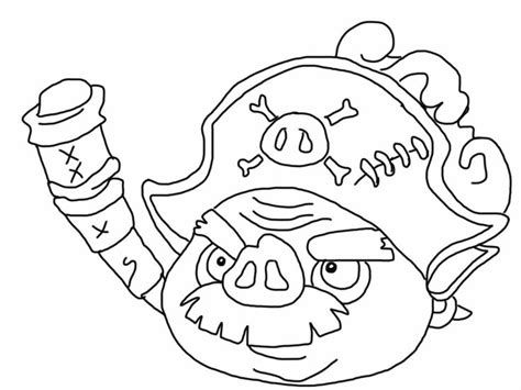 angry birds epic coloring page pirate pig my free