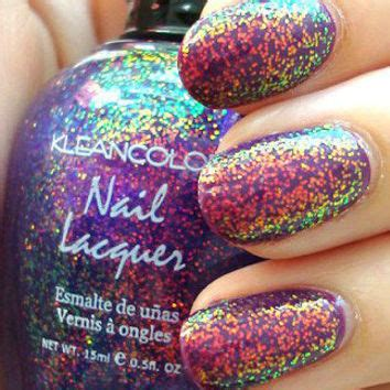 X New Holo Melintang Ac158 new kleancolor chunky holo purple from poshaffair1 on ebay