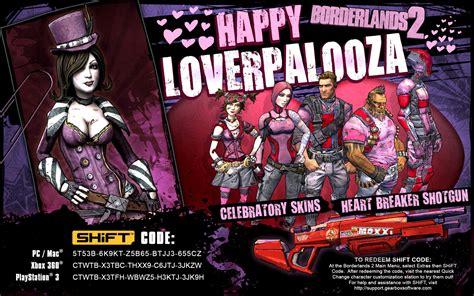 Best Item Kaos Im A Zero X Store borderlands 2 loverpalooza skins shift codes pc xbox 360