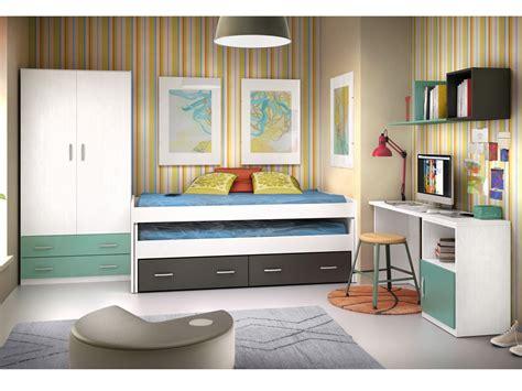 habitaciones con dos camas habitaci 243 n joven de dos camas nido en block personalizable