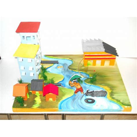 Handmade Science Models - pe 06 water pollution pollution environment science