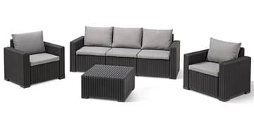 allibert california lounge set graphite three seater