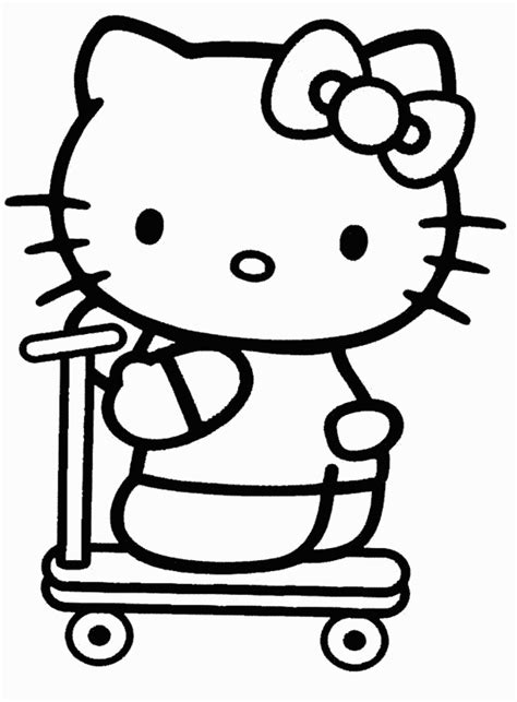 hello kitty skating coloring pages roller skate hello kitty coloring pages free coloring