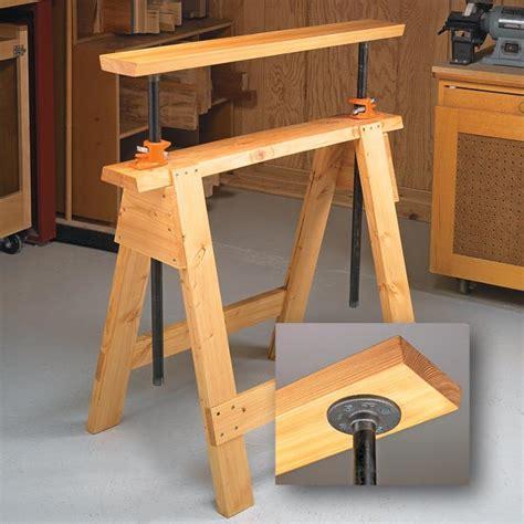 Sawhorse Bench - adjustable sawhorses woodsmith tips