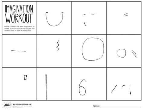 printable art lessons worksheets imagination workout printable paging supermom