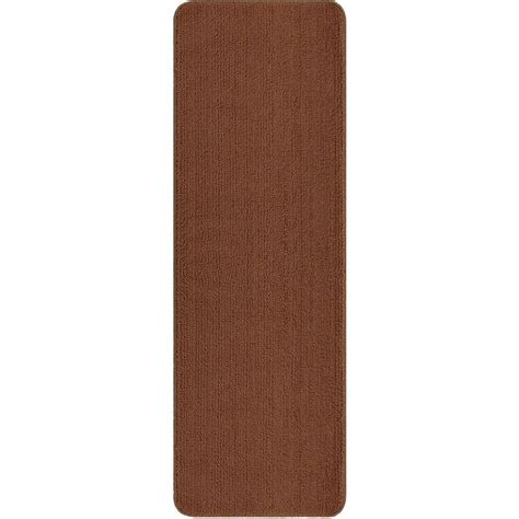 home depot bathroom rugs ottomanson solid design beige 2 ft 2 in x 8 ft non slip