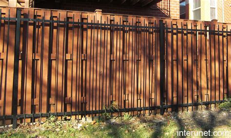 wood and metal fence metal and wood fence www pixshark images galleries
