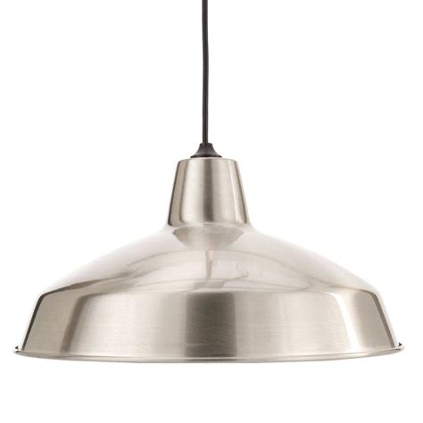 home depot pendant lights for kitchen hton bay af 1032r 1 light brushed nickel warehouse