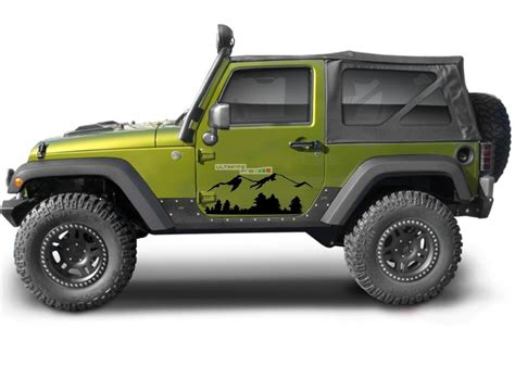 Stickers Jeep Wrangler Yj by Decals For Jeep Wrangler