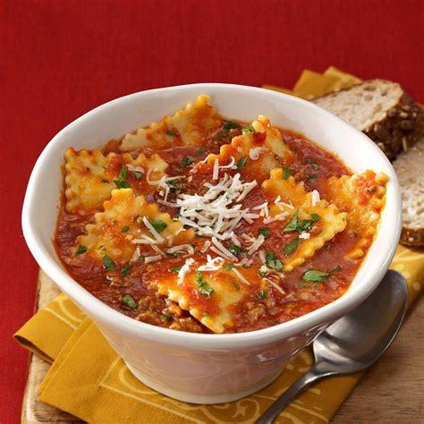 ravioli soup recipe taste  home