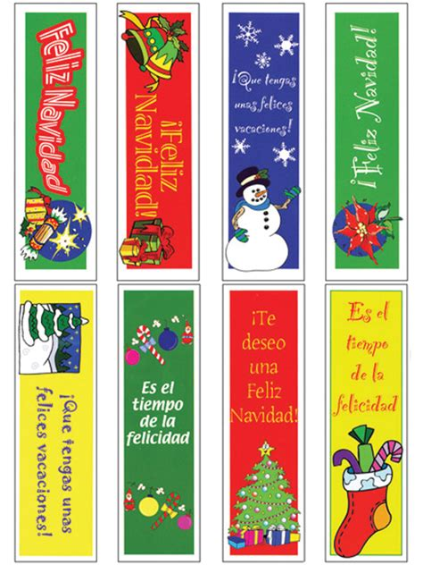 printable bookmarks in spanish bookmarks christmas christmas decore