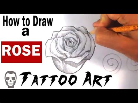 youtube rose tattoo how to draw a