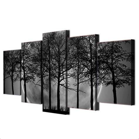 hd prints wall art trees pictures  pieces black white