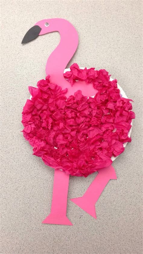 Crafts With Tissue Paper - preschool flamingo craft flamingo craft paper plate
