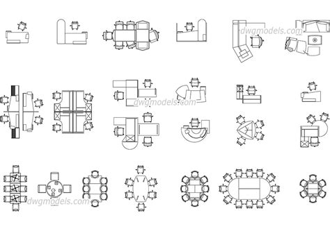 stuhl 2d office furniture dwg free cad blocks