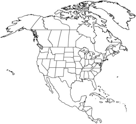 continental united states coloring page map crayon outline map of north america with countries coloring page