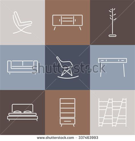 design pattern catalog seamless pattern with modern furniture template for design