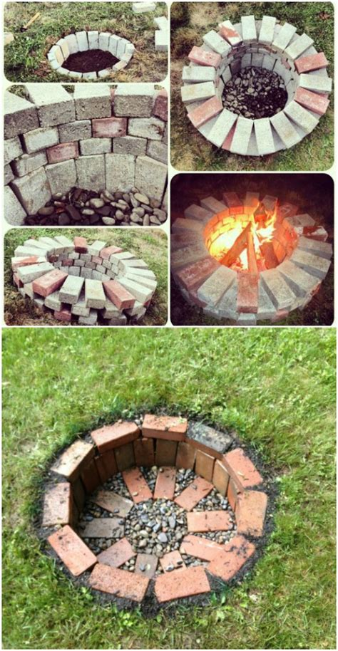 diy pit bricks 30 brilliantly easy diy pits to enhance your outdoors diy crafts