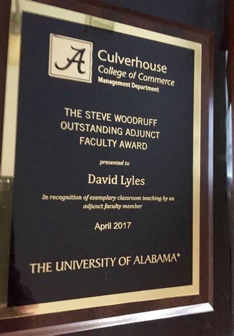 Colleg Confidential Ua Stem Mba by Emba Alumnus David Lyles Wins Woodruff Award Ua