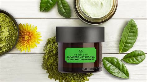 Masker The Shop mask monday the shop japanese matcha tea pollution clearing mask