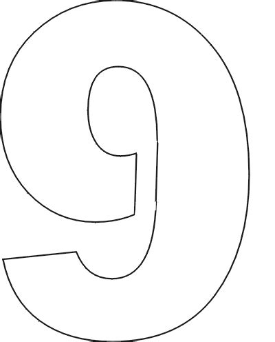 printable number stencils large best photos of number 9 template number 9 coloring page