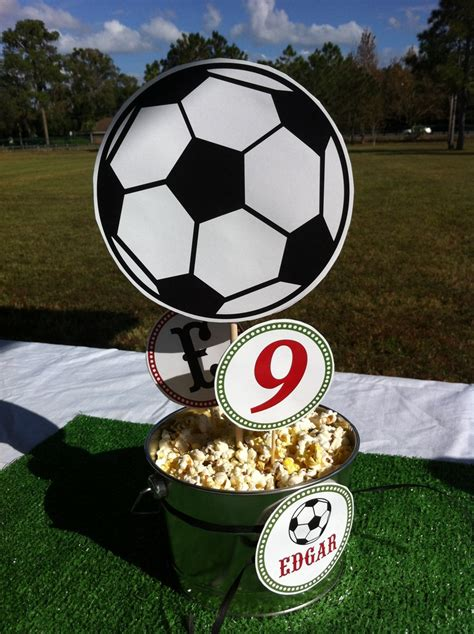 soccer theme decorations soccer birthday table decor high school sports