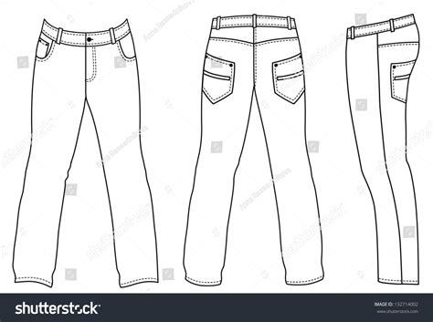 outline black white pants vector illustration isolated on outline blackwhite pants illustration isolated on stock