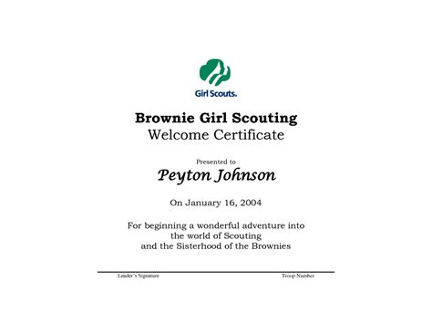 scout certificate templates 18 best images of scout worksheets scout