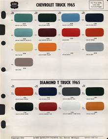 truck paint colors 1965 chevy truck factory colors pictures to pin on