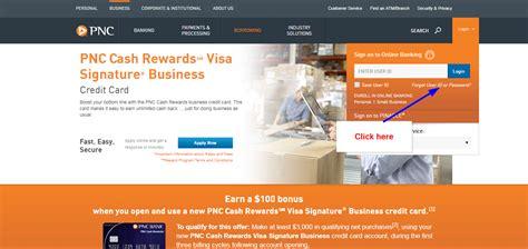 reset pnc online password pnc cash rewards visa signature business online login cc