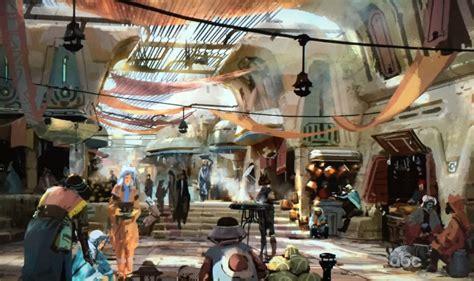 theme hotel concept new star wars land concept art reveals disney theme park