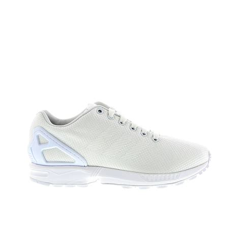 sale adidas zx flux womens casual shoes white white