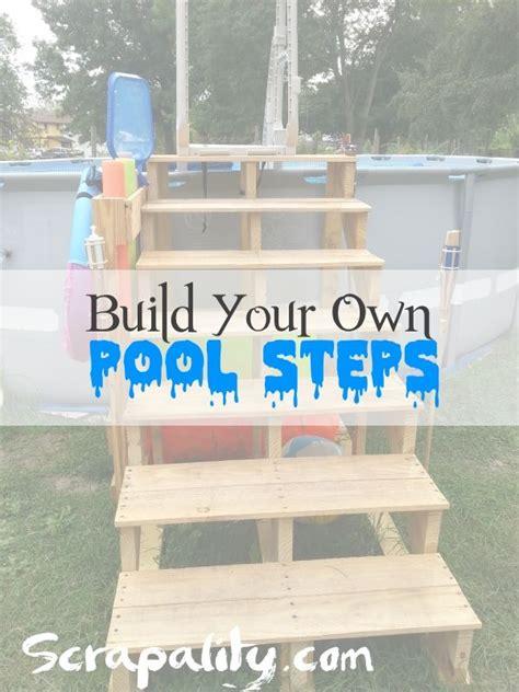 build pool steps  pallet wood  reclaimed