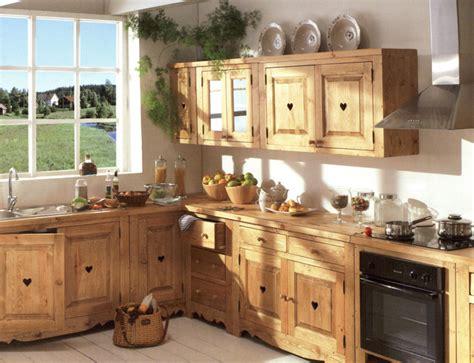 cuisines bois massif meuble de cuisine style montagne chaios com
